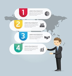 Businessman Presentation Infographic design vector image