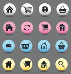button internet vector image
