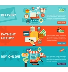 Buy Online Payment Methods And Delivery Concept vector