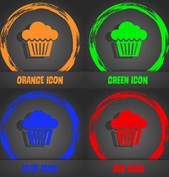 Cake icon fashionable modern style in orange vector