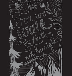 can we walk faith not sight vector image