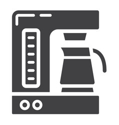 Coffee maker solid icon kitchen and appliance vector