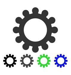 Cog flat icon vector