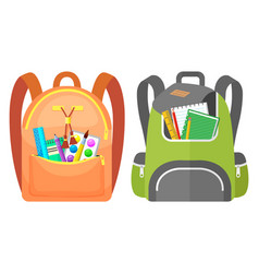 Colored school backpack back to school vector