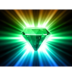 Colorful diamond on bright background vector