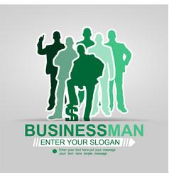 Concept businessman affair background green 2015 vector