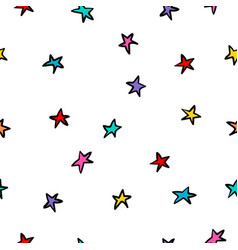 cosmos space stars simple seamless pattern vector image