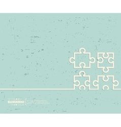 Creative puzzle Art template vector