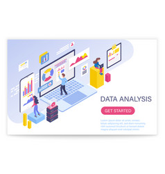 data analysis process big data concept 3d vector image