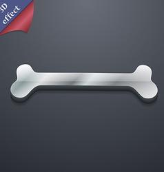 Dog bone icon symbol 3D style Trendy modern design vector