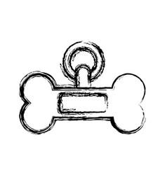 Dog bone icon vector