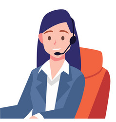 elegant girl working customer service vector image
