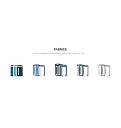 Fabrics icon in different style two colored and vector