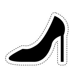 Female shoe isolated icon vector