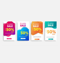 Flash sale banners special offer set sale banner vector