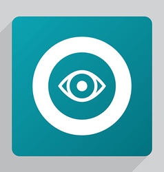 flat eye icon vector image