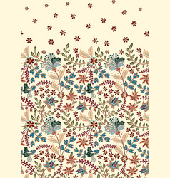 Floral vintage seamless pattern retro plants vector