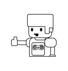 gamer boy pixelated vector image