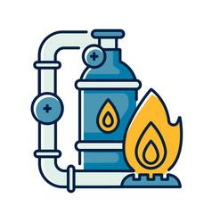 Gas industry rgb color icon vector