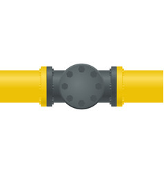 Gas pipe with flange vector