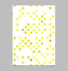 Geometric pentagram star pattern background page vector