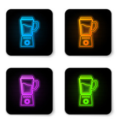 glowing neon blender icon isolated on white vector image