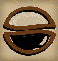 Gold coffee label vector image