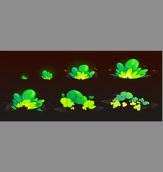 Green burst sprites for game or animation vector