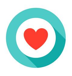 heart pill circle icon vector image