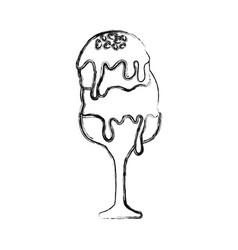Ice cream scoops vector
