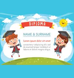 kids diploma vector image