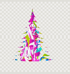 merry christmas quote in design element for vector image