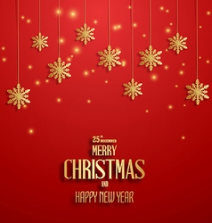 Merry christmasretro poster vector image