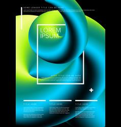 modern art flyer template vector image