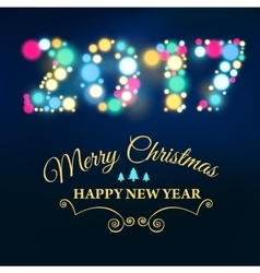 New Year Card 2017 vector