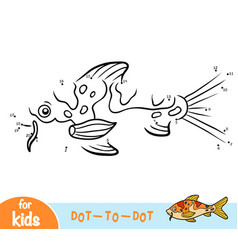 numbers game education game for children koi carp vector image