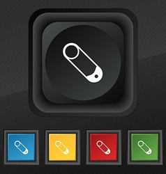 Pushpin icon symbol Set of five colorful stylish vector