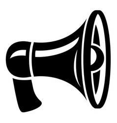 Retro megaphone icon simple style vector