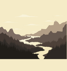 River mountain2 vector