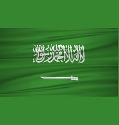 saudi arabia flag flag of saudi arabia blowig in vector image