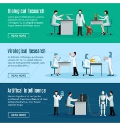Scientist Horizontal Banners vector image