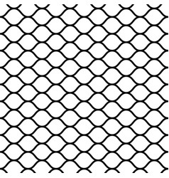 seamless mesh netting with curved wavy lines bars vector image