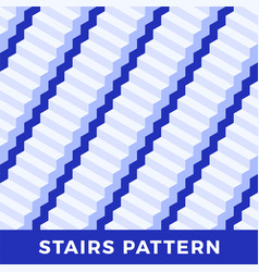 seamless pattern white stairs geometric vector image