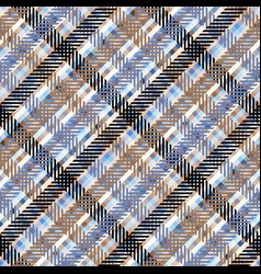 seamless plaid background vector image