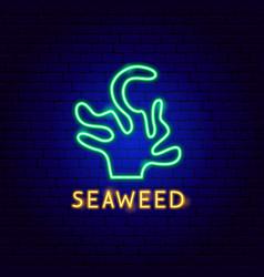 seaweed neon label vector image