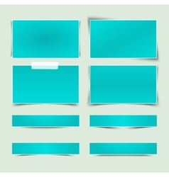 Set banners with different shadows vector