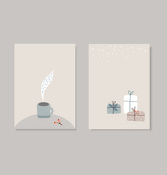 Set of christmas scandinavian greeting cards vector