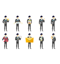 set of with groom character vector image