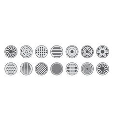 Sewer manhole caps icons monochrome set vector