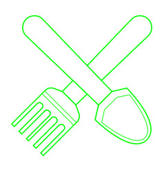 Shovel and pitchfork vector